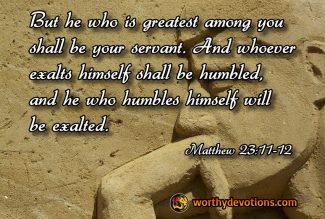 Be a Servant to All!