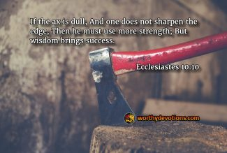 Sharpen your Ax!
